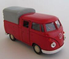 Welly VW Double Cabin / Buli / Rot-Grau / Rückzugmotor/Druckgussmodel 1:39 OVP