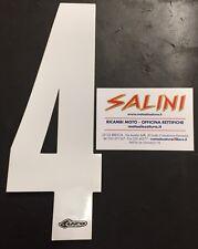 Numeri adesivi gara moto cross - UFO quattro bianco