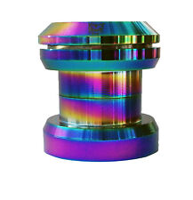 "Team Dogz Rainbow Neo Chrome Headset 1 1/8""  inch scooter Threaded & Threadless"