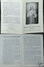 OLD BLESSED SACRED HEART OF JESUS HOLY CARD YEAR 1936 ANDACHTSBILD SANTINI C750