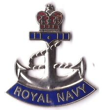 NEW ROYAL NAVY LAPEL BADGE THE NAVY Enamel, Military and Services anchor