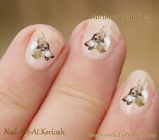 Northern Inuit, WOLF CANE, 24 Unique Designer DOG NAIL ART ADESIVI