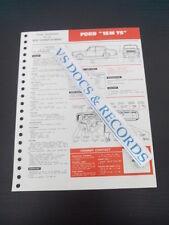 FICHE TECHNIQUE AUTOMOBILE RTA FORD 15 M TS (ref002)