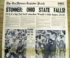 1976 newspaper UCLA STUNS OHIO STATE Wins Rose Bowl NO FOOTBALL TITLE for Hayes
