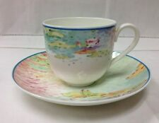 "VILLEROY & BOCH ""SUMMER DREAMS"" TEACUP & SAUCER HEINRICH BONE CHINA W.GERMANY"