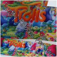 """Trolls 3"""" wide grosgrain ribbon the listing is for 10 yards"""