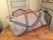 """Vintage L.L Bean Huge Overnight Waxed Canvas Tote Duffle Gym Bag Green 27"""" X 16"""""""