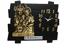Designer Wall Clock/Watch 13x11 INCHES,Gifts,Descent,Black & Golden Shiv Family