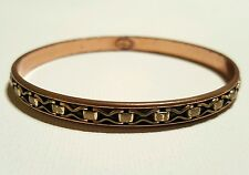 Modernist RENOIR Solid COPPER Brass accent Bangle Bracelet