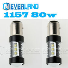 2PCS 1157 BAY15D 80W CREE LED Super Bright Car Driving Fog Auto  Light Lamp Bulb
