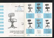 N°5778 / catalogue chaises télécopiques  BAD désign 1963