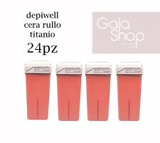 DEPIWELL 24 RICARICHE CERA RULLO DEPILATORIA AL TITANIO 100ML CARTUCCIA ROOL- ON