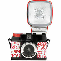 Lomography Diana F+ With Flash Love Letters 120 Film Camera BRAND NEW Lomo