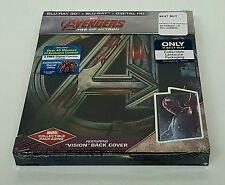 THE AVENGERS AGE OF ULTRON [2D + 3D] Blu-ray STEELBOOK [BEST BUY] VISION COVER