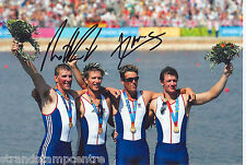 """M. Pinsent/J.Cracknell Colour 10""""x 8"""" Signed Olympic Rowing Photo - UACC RD223"""