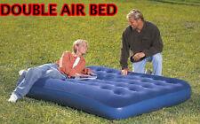 Gonflable double floqué air lit matelas gonflable matelas camping d'appoint intérieur/extérieur
