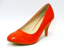 Orange Mid Heel Court Shoes / Office / Casual Wear Shoes - UK Size 6 - EU 39