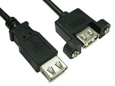 usb 2.0 panel mount cable A female to A female black 15cm