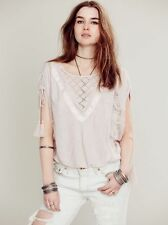 127243 Free People New Romantics South Of The Equator Embroidered Blouse Top XS