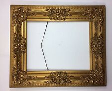 Antique Victorian Gold Gilt Gesso Wood Frame 2 Tier 19th Century 28x24""