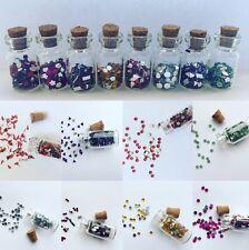 8 Bottiglie/Craft Barattoli-Mini Gemme-Fata/Pixie-le forme di strass - 2cm-NAIL ART-Craft
