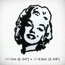 new Marilyn Monroe EMBROIDERED PATCH IRON ON or SEW, actress model singer SEXY