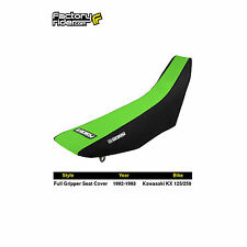 1992-1993 KAWASAKI KX 125-250 Black/Green FULL GRIPPER SEAT COVER by Enjoy MFG