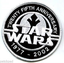 STAR WARS 25TH 1977-2002 SILVER ANNIVERSARY COMMEMORATIVE STAR WARS 25YEAR PATCH