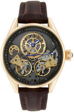 Rougois Men's Bronze Finish Regal Double Escapement Automatic Watch