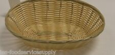4 EACH Plastic OVAL FOOD BASKET CHIPS BREAD SANDWICH FRENCH FRY - NATURAL WEAVE