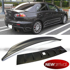For 08-15 Lancer Vortex Generator Shark Fin Roof Wing And Trunk Spoiler Combo