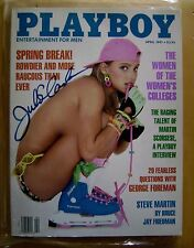 PLAYBOY MAGAZINE  APRIL 1991 AUTOGRAPHED COVER BY Julie Clarke Her Cover / POA