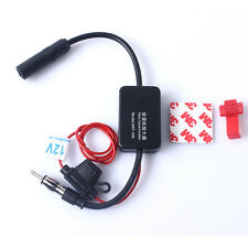 Vehicles Car Antenna Amplifier Radio Booster FM AM Signal Amp Inline Adapter