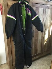 Vintage Arctic Cat Wear Snowmobile Coveralls Size M Black Green