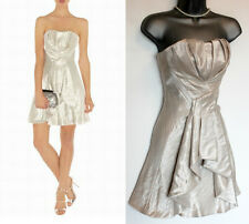Karen Millen Metallic Pale Gold/Nude Strapless Prom Evening Short Dress 6 EU34