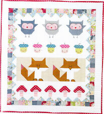 Forest Folk Quilt - fun pieced kids quilt PATTERN - Red Brolly