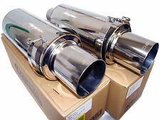 "(2x) Apexi N1 Evolution-R Universal Exhaust Mufflers (Turbo 3"" Inlet 4.5"" Tip)"
