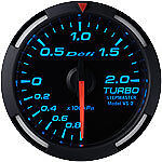 Defi Racer Gauge 52mm Turbo Meter DF06504 Blue