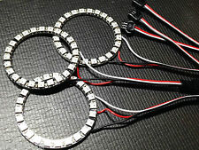 3 x 24 RGB LED Ring WS2812B Individually Addressable Neo Pixel Black PCB DC5V