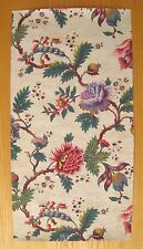 Antique 19th C. French Exotic Floral Wallpaper  (8989 )