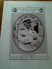 """Titanic Tribute to Brave Captian Advert Poster Print 16"""" x 12""""  to Frame 1"""