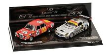 Minichamps 1:43 Hans Heyer 2 car set: 1971 Mercedes 300 SEL & 2011 Mercedes