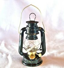 BLACK hurricane 8 in lamp light oil lantern hanging kerosene rustic CMP1227 gold