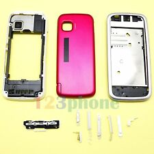 BRAND NEW KEYPAD + BATTERY COVER + CHASSIS FULL HOUSING FOR NOKIA 5230 #PINK