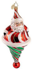 Christopher Radko ROLY POLY TWIST Santa Candy Striped Christmas Ornament