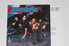 """EXTREME -More Than Words (Remix)- 7"""" 45 mit Product Facts Promo-Flyer"""