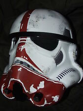 STAR WARS FIBREGLASS STORMTROOPER INCINERATOR TROOPER HELMET FULL SIZE + PADDING
