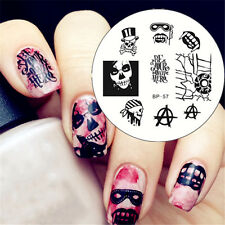 Nagel Schablone Cool Nail Art Stamp Stamping Template Plates BORN PRETTY BP57