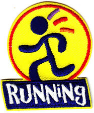 """""""RUNNING""""- Iron On Embroidered Applique Patch -Sports, Words, Running,Exercise"""
