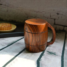 Manual Made Wooden Tea Cup Wooden Beer Mug Cup Spirit Wine Mug Barrel Handle